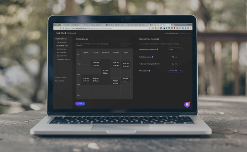 A Brand New dashboard to define your preferences and optimize your calendar!