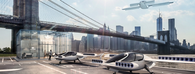 Picture of Lilium aircrafts in front of a bridge
